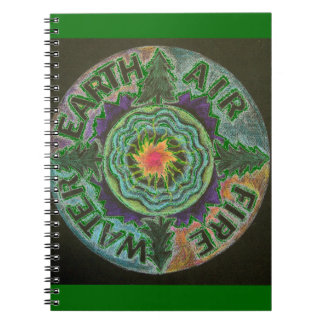 Four Elements Sun Mandala Notebook