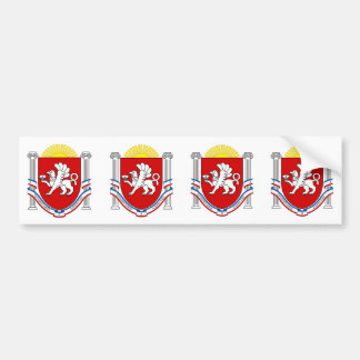 FOUR Emblem of Crimea Bumper Sticker