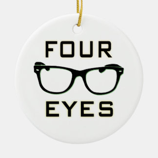 Four Eyes Christmas Ornament