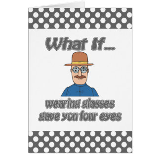 Four eyes note card