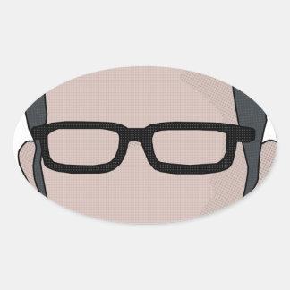 Four Eyes Oval Sticker
