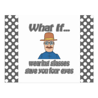 Four eyes postcard
