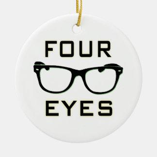 Four Eyes Round Ceramic Decoration
