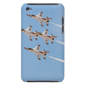 Four F-16 Thunderbirds fly in close formation Barely There iPod Case