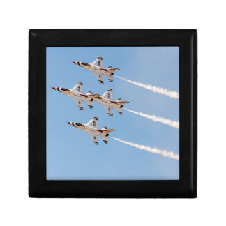 Four F-16 Thunderbirds fly in close formation Gift Box