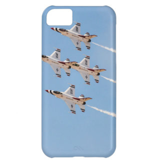 Four F-16 Thunderbirds fly in close formation iPhone 5C Case