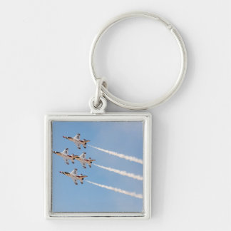 Four F-16 Thunderbirds fly in close formation Key Ring