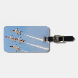 Four F-16 Thunderbirds fly in close formation Luggage Tag
