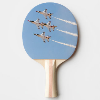 Four F-16 Thunderbirds fly in close formation Ping Pong Paddle