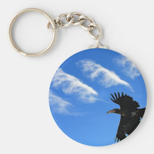 Four Feathers Basic Round Button Key Ring
