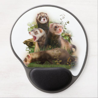 Four Ferrets in Their Wild Habitat Gel Mouse Mat