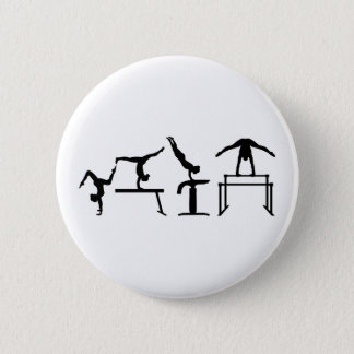 Four fight Quadrathlon Gymnastics 6 Cm Round Badge