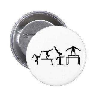 Four fight Quadrathlon Gymnastics 6 Cm Round Badge