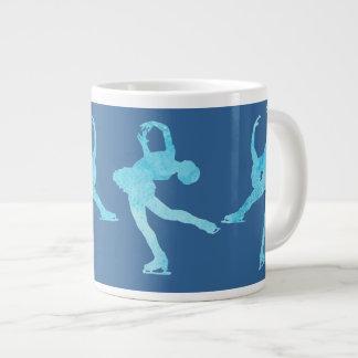 Four Figure Skaters in Cool Blue Jumbo Mug