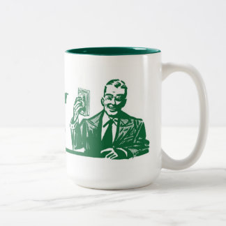 Four Figures Two-Tone Coffee Mug