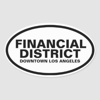 """FOUR """"Financial District"""" Oval Sticker"""