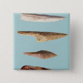Four Flint Tools 15 Cm Square Badge