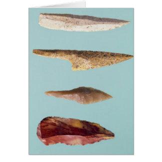 Four Flint Tools Card