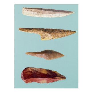 Four Flint Tools Postcard