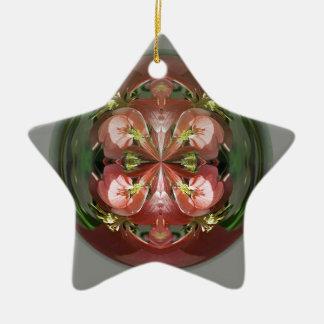 Four Flower Globe Christmas Ornament