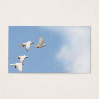 Four flying doves business card