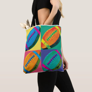Four Footballs in Different Colors Tote Bag