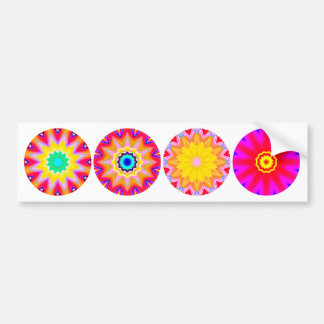 Four Fractal Mandalas Bumper Sticker