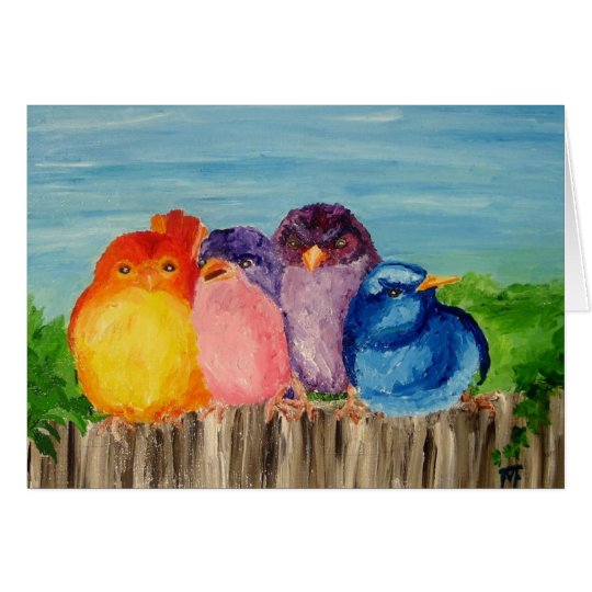 Four Friends - Greeting Card