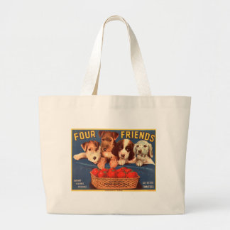 Four Friends Vintage Tomato Crate Label Tote Bag