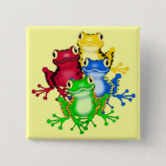 Four Frogs Tshirts and Gifts 15 Cm Square Badge