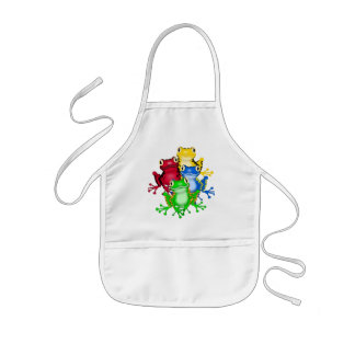 Four Frogs Tshirts and Gifts Kids Apron