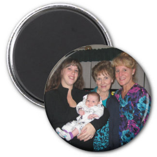 Four Generations Family Photo Magnet