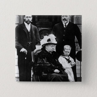 Four Generations of Victorian Royalty 15 Cm Square Badge