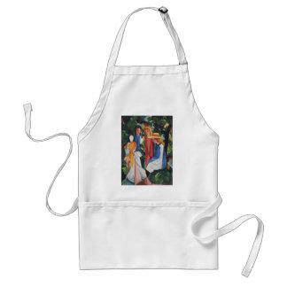 Four girls standard apron