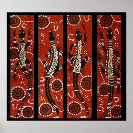 Four Goanna Dreaming Poster