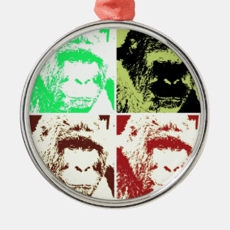 Four Gorillas Christmas Ornament
