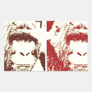Four Gorillas Rectangular Sticker