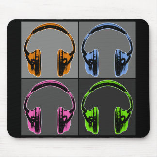 Four Graphic Headphones Mousepad