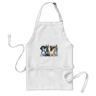 Four Great Danes Aprons
