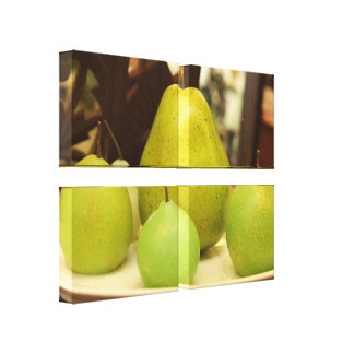 Four Green Pears Wall Canvas's Canvas Print
