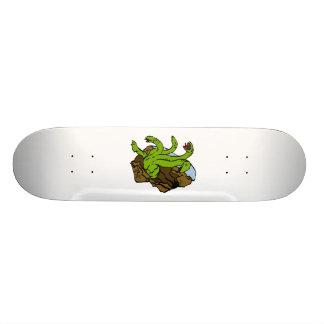 four headed dragon skate board deck