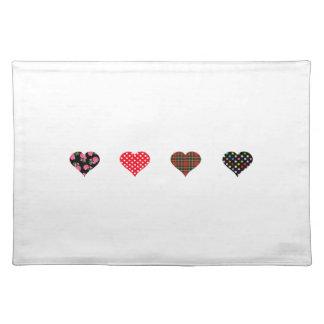 Four Hearts Design Placemat