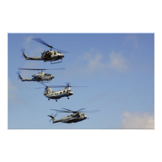 Four Helicopters Poster