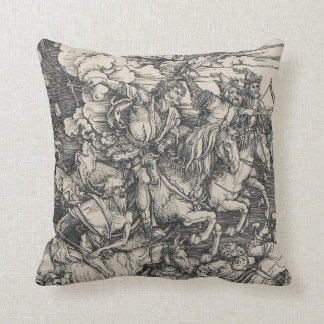 Four Horsemen of the Apocalypse by Durer Cushion