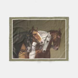 FOUR HORSES Fine Art Print Fleece Blanket