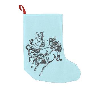 four horses small christmas stocking