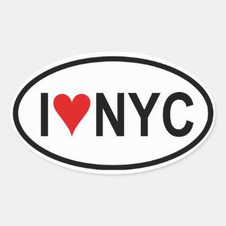"FOUR ""I [heart] NYC"" Oval Sticker"