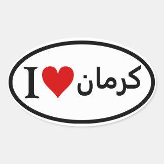 FOUR I [Heart] Tehran Oval Sticker