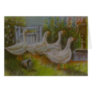 Four Irish Geese by Joanne Casey - Card left blank