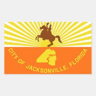FOUR Jacksonville Flag Rectangular Sticker